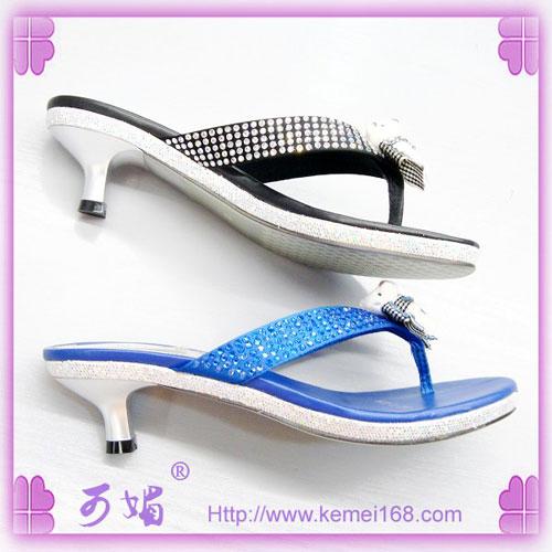 可媚女鞋 正品新款 水晶