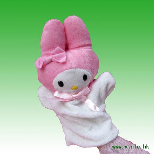 新乐★动物毛绒手偶--兔兔xla000127