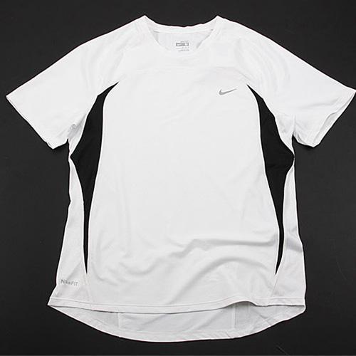 nike跑步系列男子运动短袖t恤(白色)332355-102