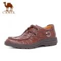100%专柜正品超低价 09秋款 美国骆驼 商务休闲鞋 0760885 棕