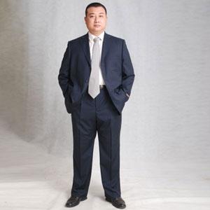 大码胖体男装~~~整套西服x0247--灰黑色